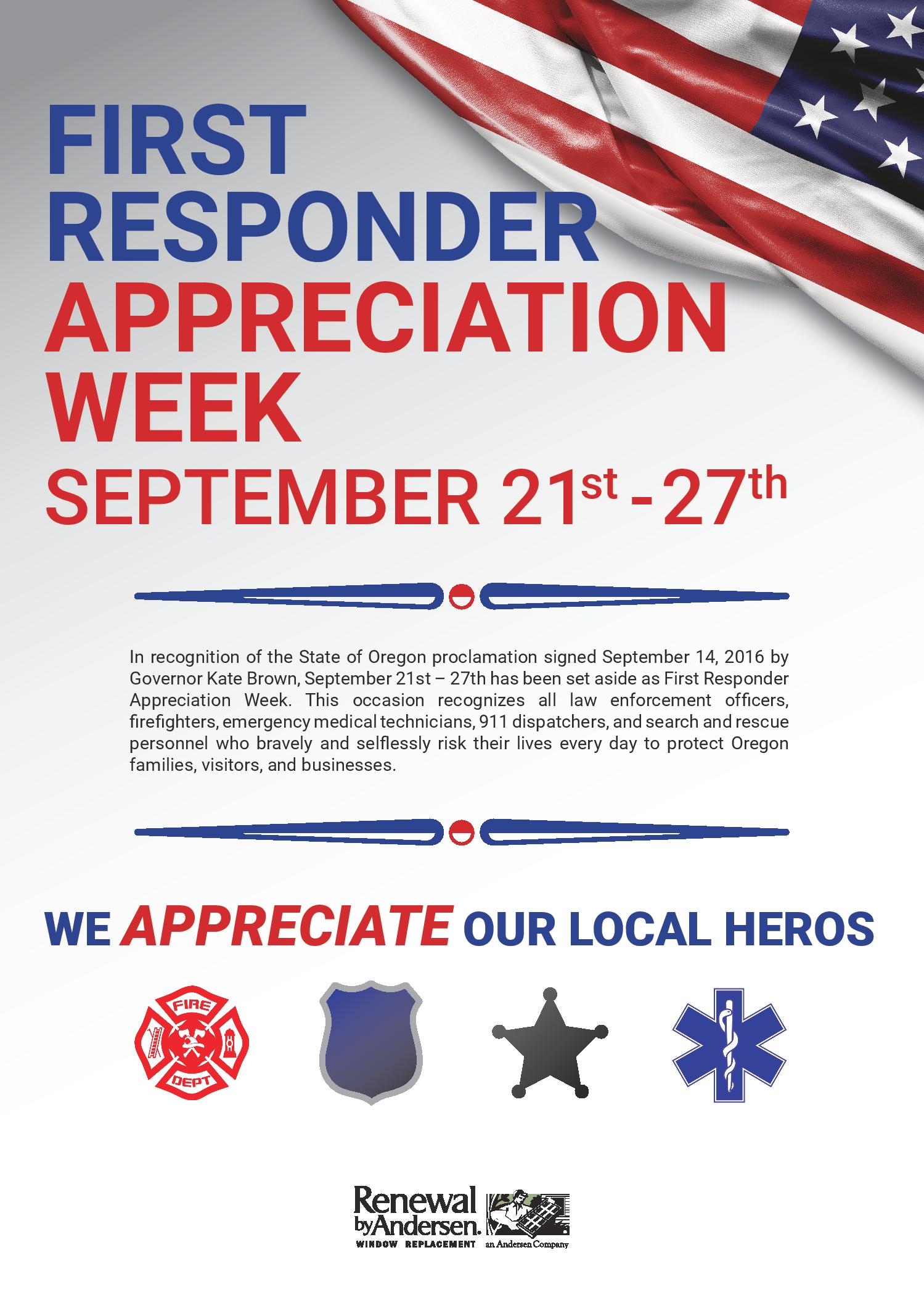 Image result for first responders appreciation week oregon